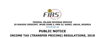 FIRS public notice on Transfer Pricing Regulations