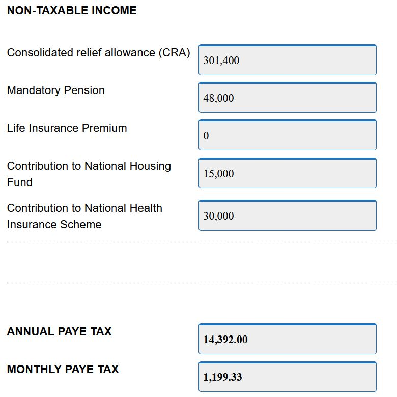 tax calculator demo